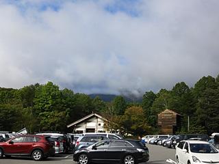 遠征二日目は雲に覆われた山頂