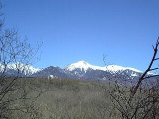 青空に映える八ヶ岳