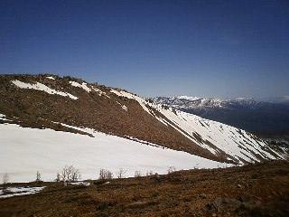 毎年撮影している山の稜線