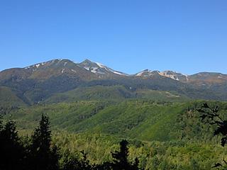 白樺峠から見た乗鞍山頂