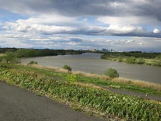 荒川は結構増水してました
