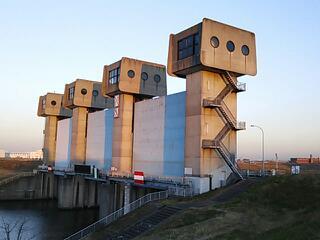 岩淵水門のライトアップを期待したのですが。。。
