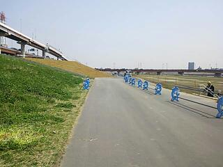 西新井橋左岸が開通